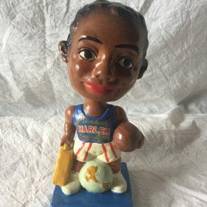 Harlem Globetrotter Vintage Bobblehead 1962 NBA Advertising Nodder