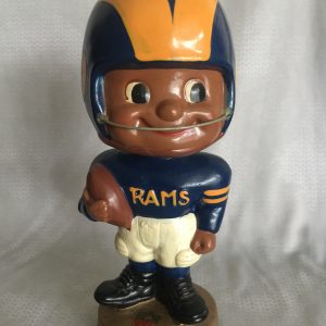 Los Angeles Rams Vintage Bobblehead Extremely Scarce Black Face Toes Up Nodder