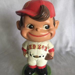 Boston Redsox Vintage Bobblehead Scarce Crooked Cap Version 1962 Green Base Nodder